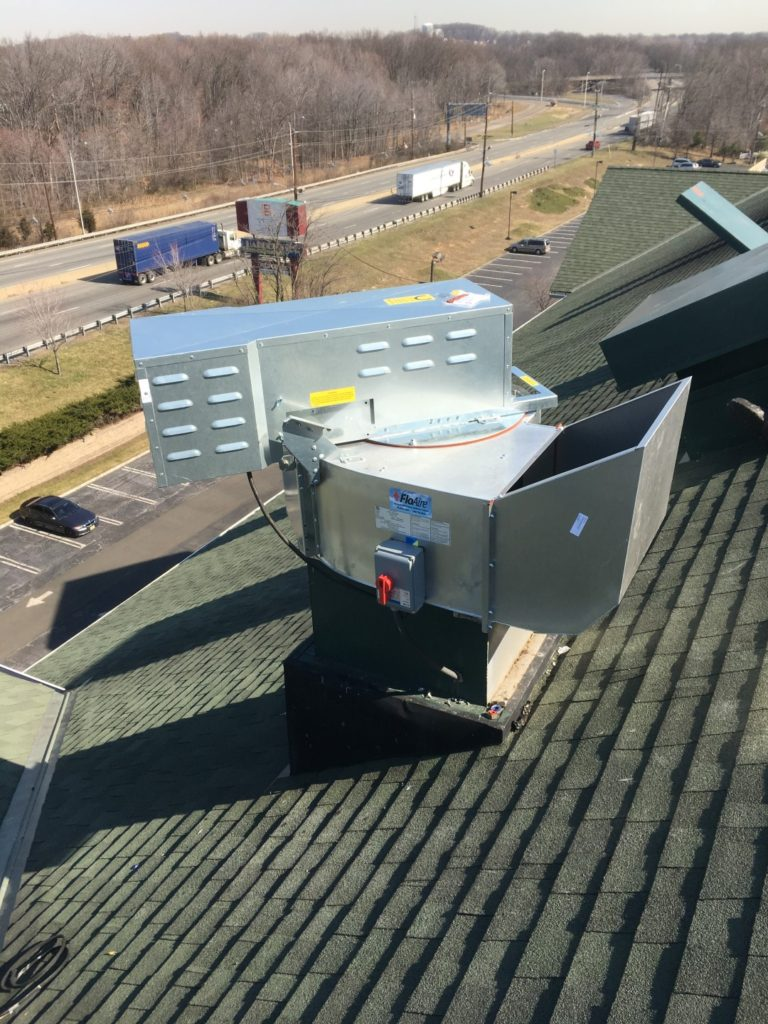 installing a high pressure exhaust fan
