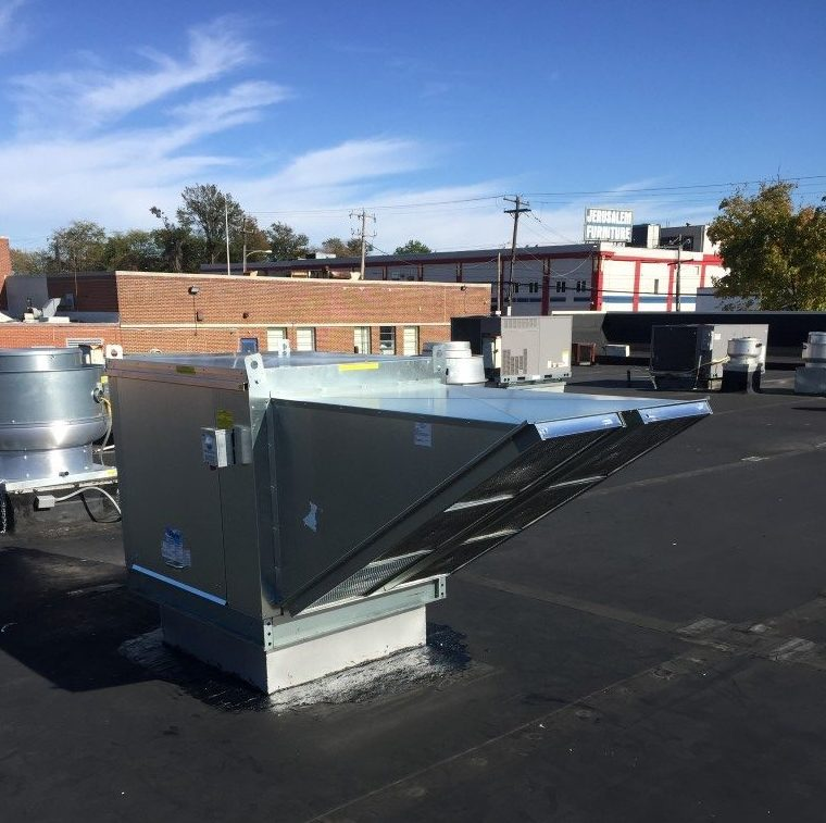 repairing a roof top makeup air unit in nj