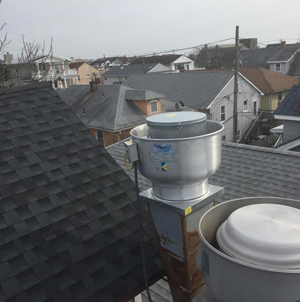 rooftop exhaust fan